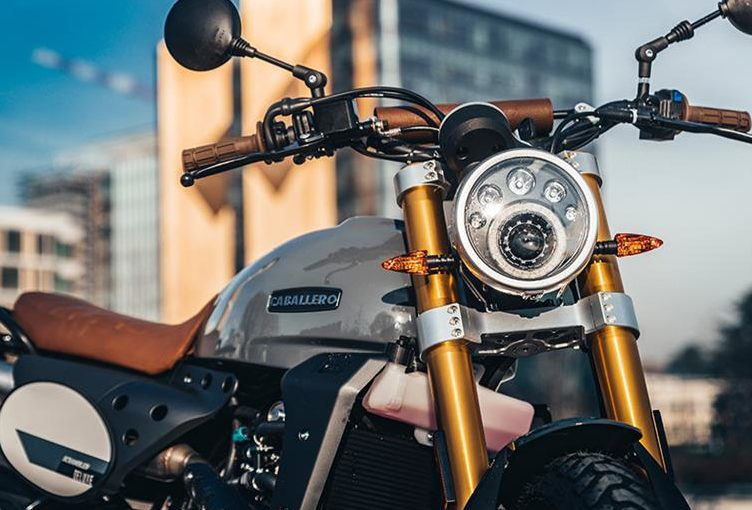 Phare scrambler 125 deluxe edition grise